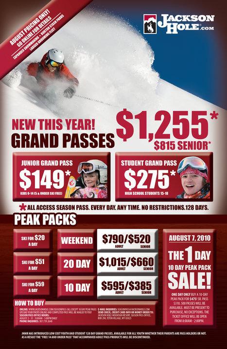 JHMR Lowers season pass price