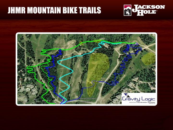 Mountain bike trails at JHMR