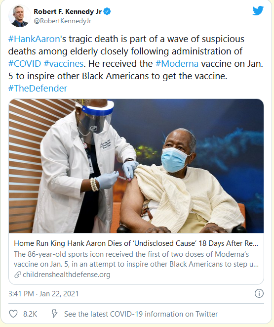 Name:  Screenshot_2021-01-23 RFK Jr blames Hank Aaron's death on COVID vaccine - Lawyers, Guns Money.png