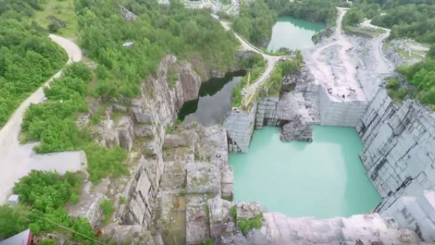 FLASHBACK: Insane Cliff Jumping In Abandoned Vermont Quarry | Teton