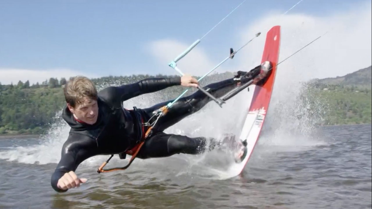 Pro Kiteboarder Brandon Scheid Moved to Hood River Five Years Ago