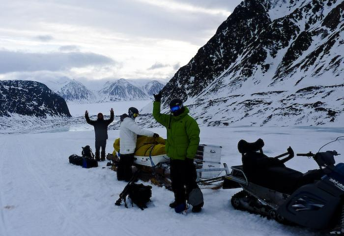 We made it to the upper glacier. Three local guides shuttled us to our zone