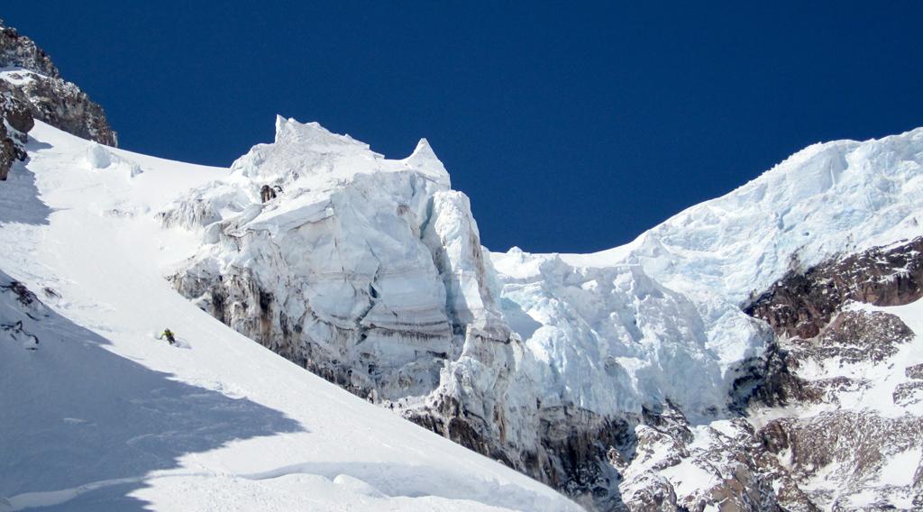 Seth Waterfall Skis Mount Rainier