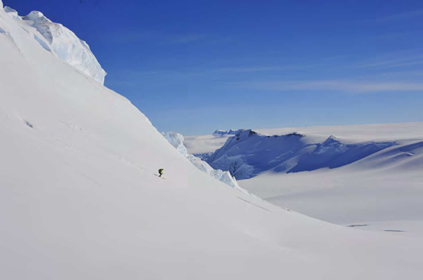 Seth Waterfall Skis Antarctica