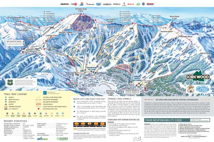 News: Vail Resorts To Acquire Kirkwood Mountain Resort In ... on north star ski resort map, tahoe ski areas map area, kirkwood ski resort map, heavenly ski resort map, mammoth ski resort map, snowshoe ski resort map, diamond peak ski resort trail map, tahoe hiking map, steamboat ski resort map, northstar ski resort trail map,