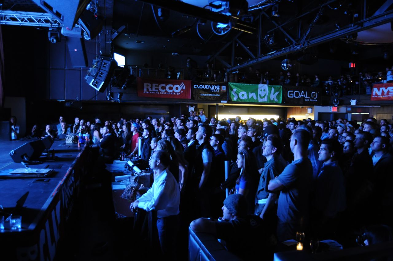 The crowd captivated at the Further Premiere in at the Highline Ballroom in New York City