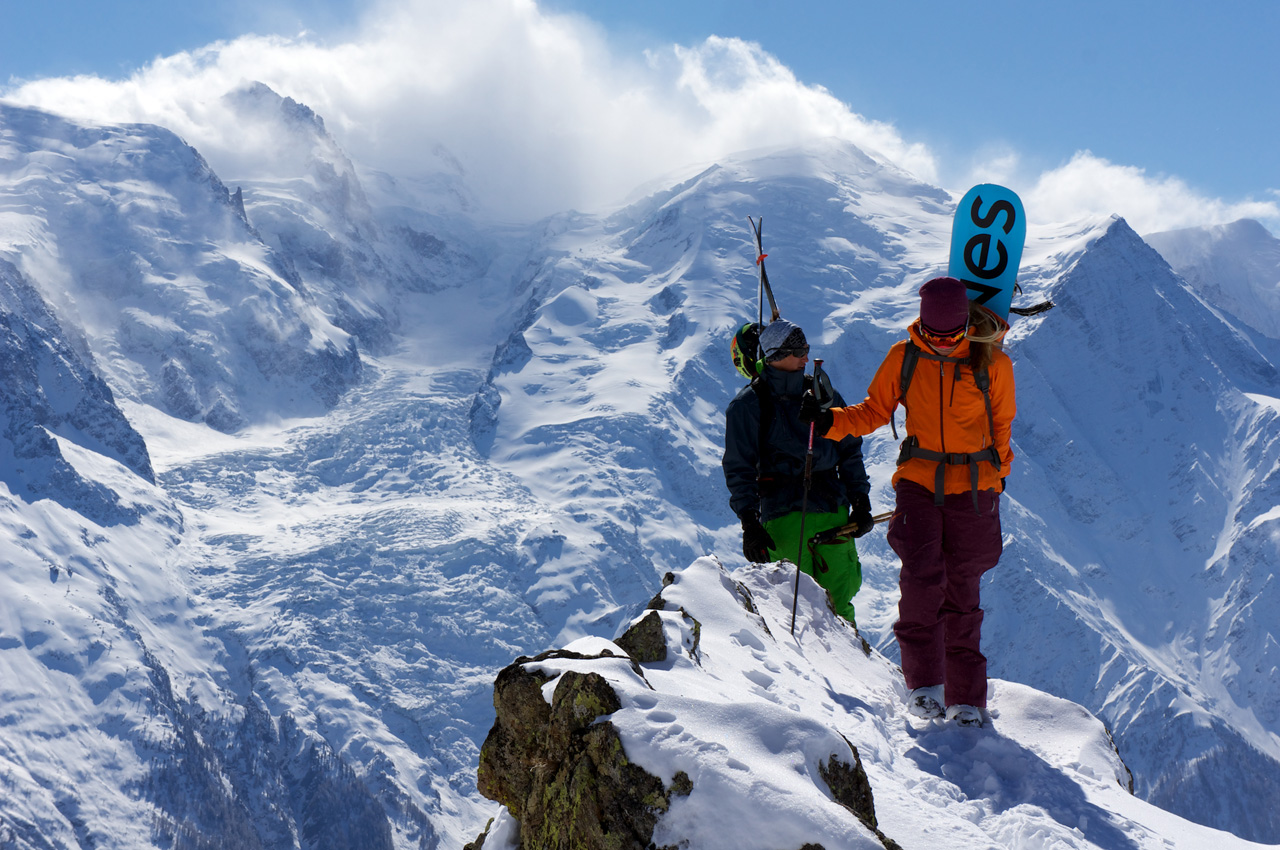 Drew Tabke and Liz Daley in Chamonix Photo by Davide De Masi