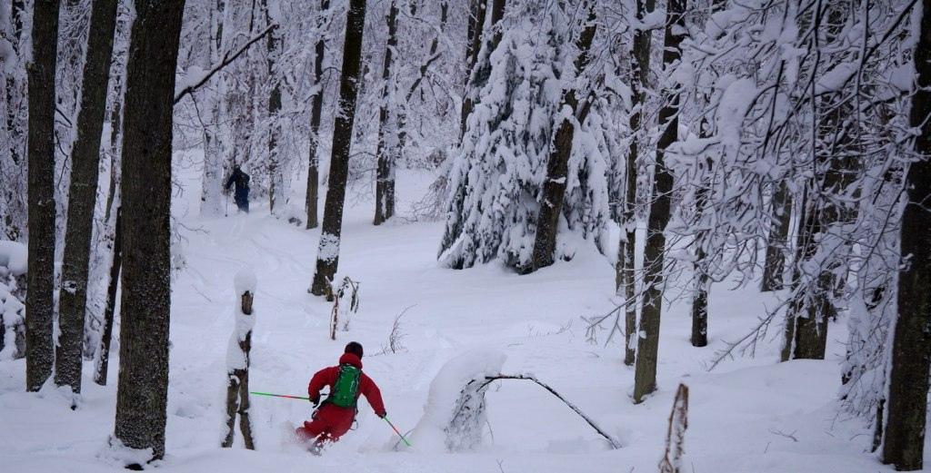 Skiing in WV during Hurricane Sandy