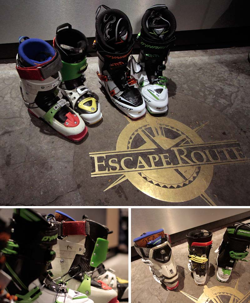 Dynafit Boots at the escape route