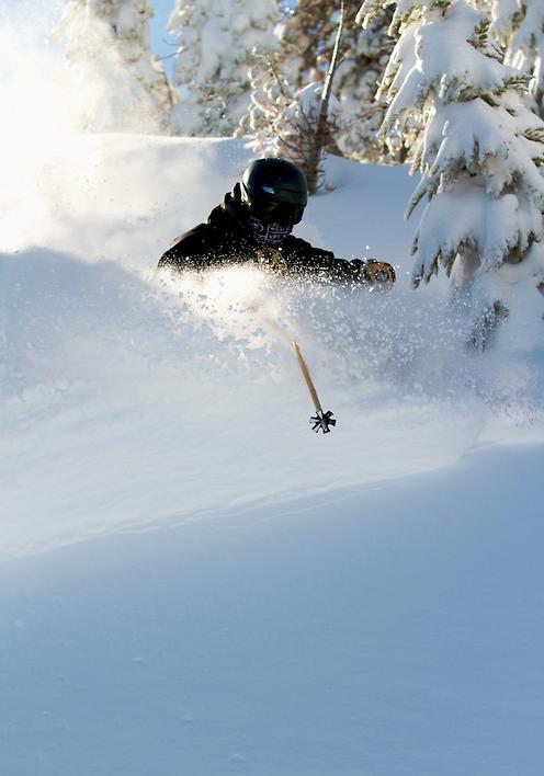 Slashing Powder at Mt. Rose