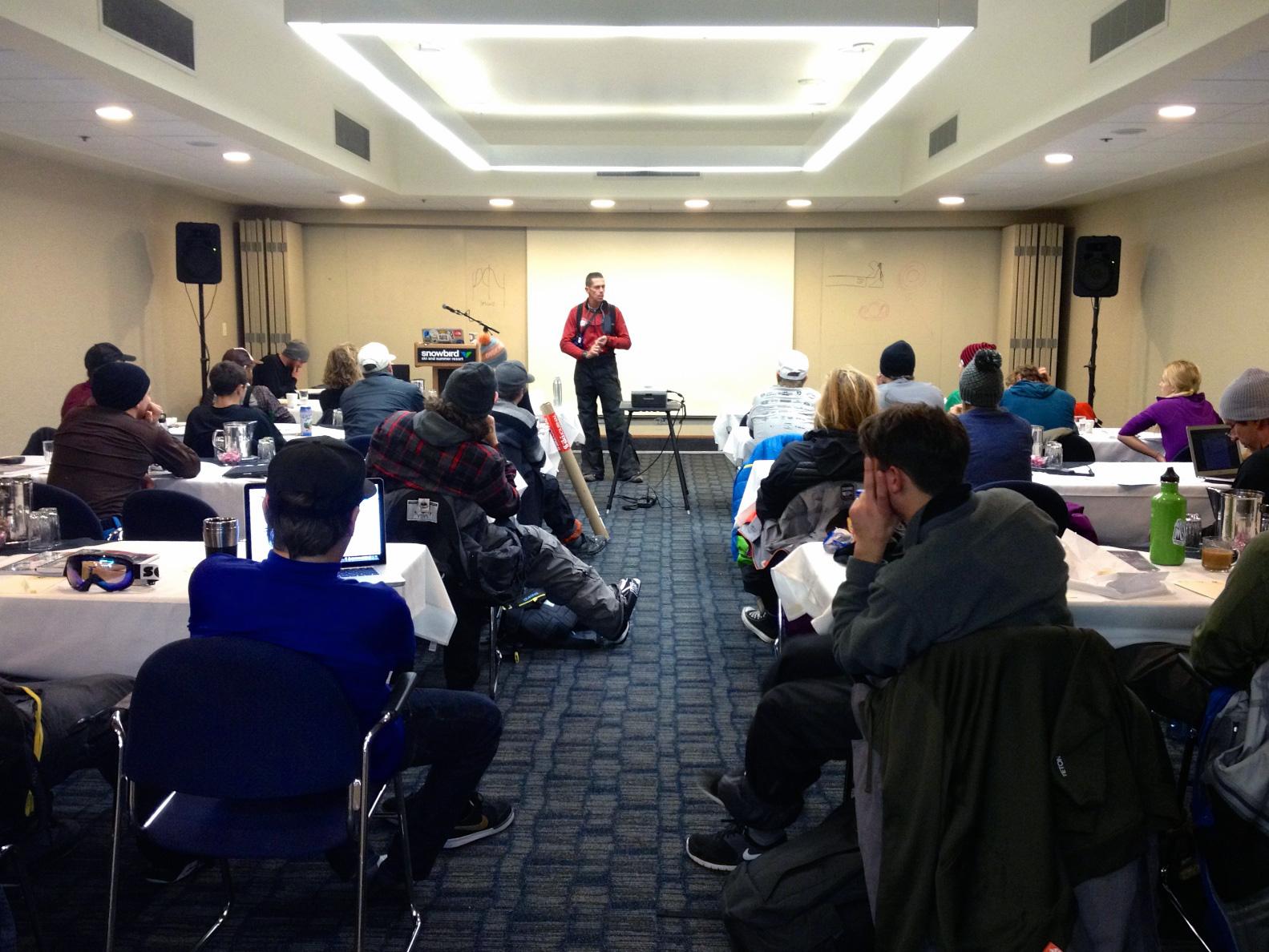 Craig Gordon of the Utah Avalanche Center at TGR's IPRW