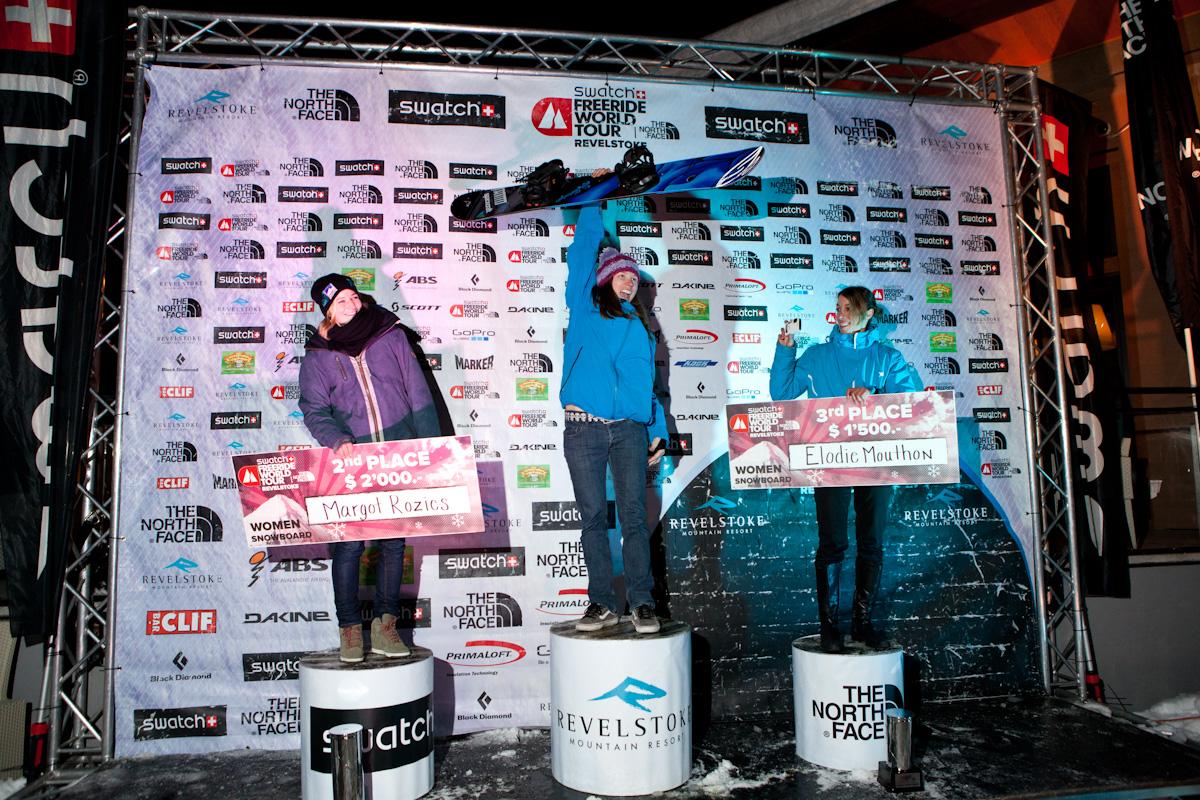 Women's Snowboard Podium FWT Revelstoke by R. SIHLIS