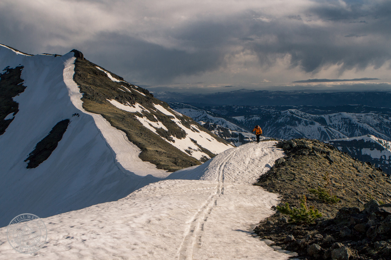 Forrest McCarthy midway through a 120 mile traverse of the Absaroka Beartooth Mountains. Photo by Jim Harris