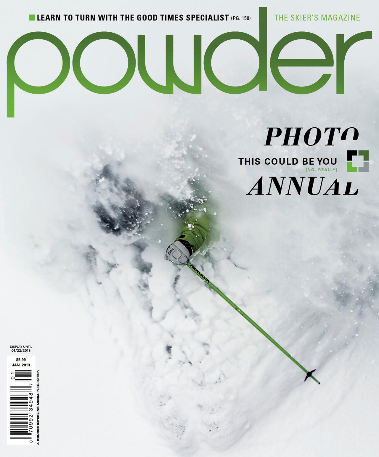 Jim Harris Powder Magazine Cover Photo