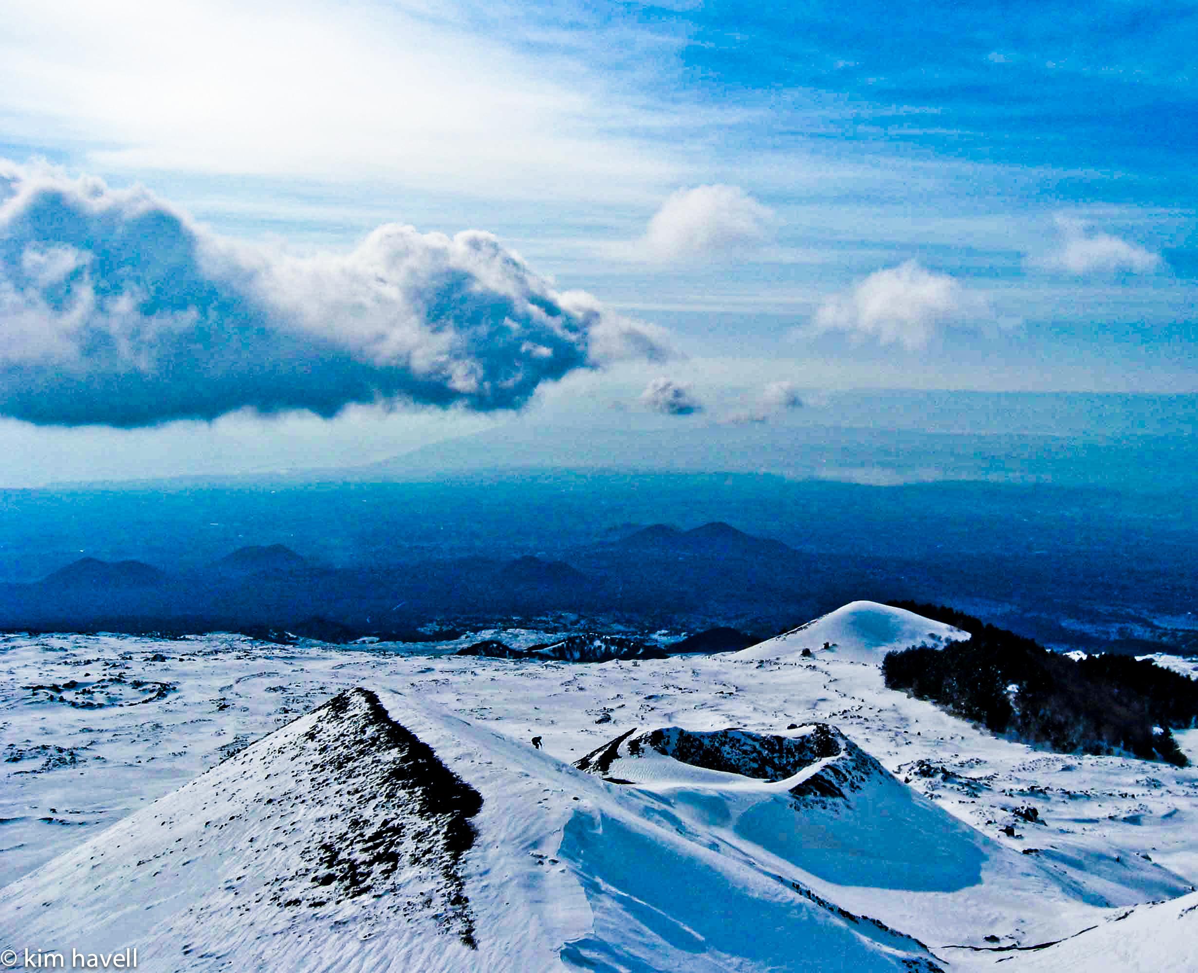 Skiing Mount Etna