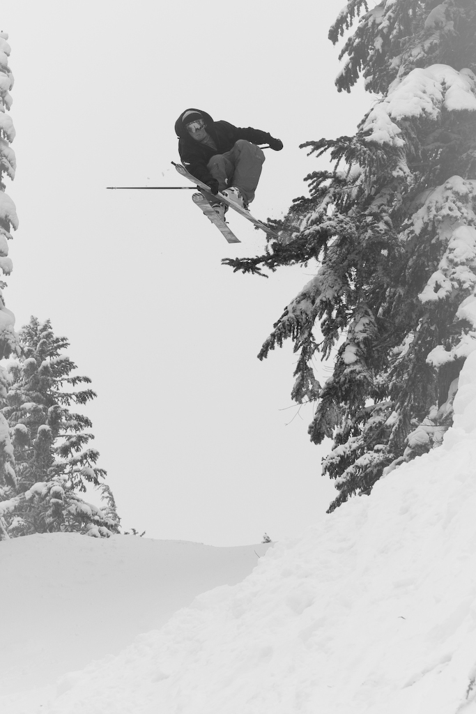 Tanner pow laps in May