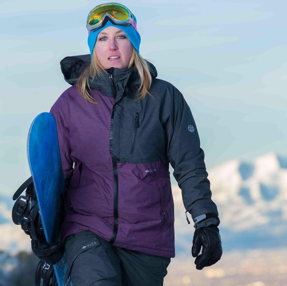 Snowboard Editor At Large MacKenzie Ryan Tests 686 Womens GLCR Kit In The Wasatch Gregg Trawinski Photo