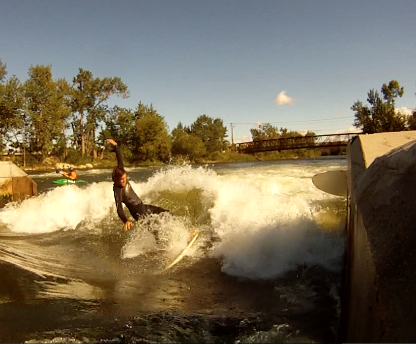 Wipeout on the river